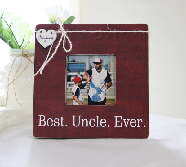 Best Uncle Ever Personalized Picture Frame, New Aunt New Uncle Gift, New Baby Announcement