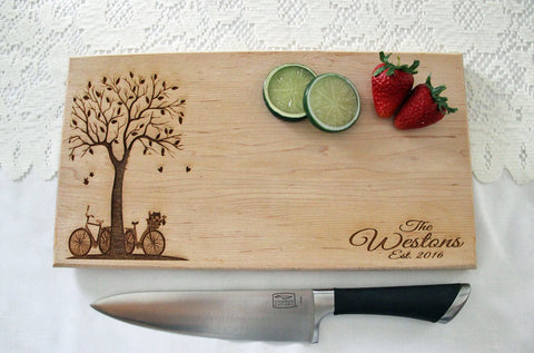 Personalized Wedding Cutting Board, Custom Engraved Cutting Board, Great Gift Idea