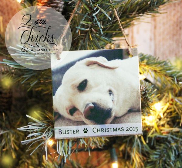Personalized Pet Christmas Ornament, Photo Ornament, Personalized Ornament