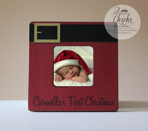 babys first christmas personalized picture frame