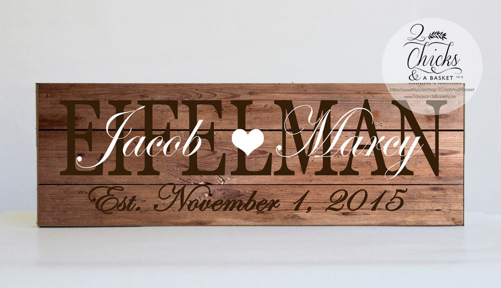 Family Name Sign Customized Wedding Gift Personalized Family