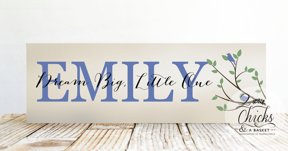 Nursery sign with quote child name sign nursery or baby shower nursery sign with quote child name sign nursery or baby shower gift dream big little one sign negle Gallery