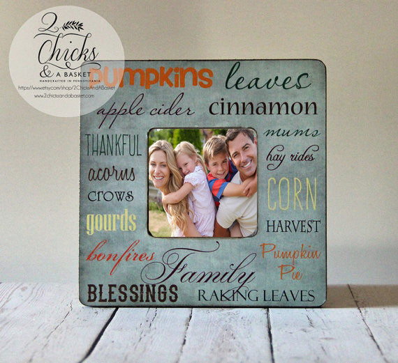 Fall Word Art Picture Frame