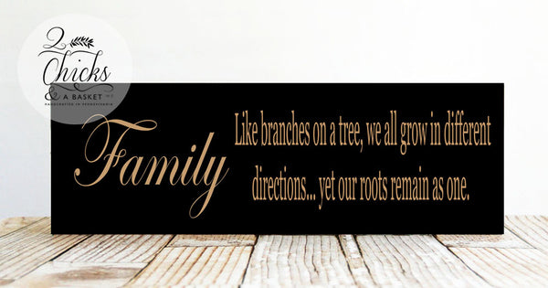 Family Like Branches On A Tree Sign, Family Sign, Handcrafted Wood Sign