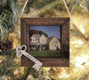 First Home Ornament, Personalized Photo Ornament, Couple Christmas Ornament, Our First Home Picture Ornament, Wood Framed Ornament