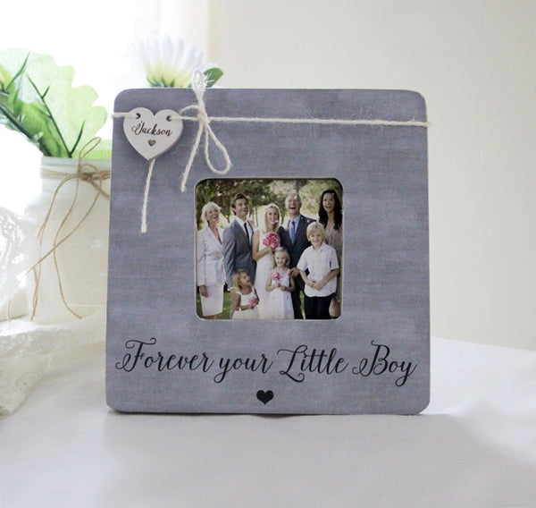 Forever Your Little Boy Picture Frame, Personalized Mother Of The Groom Gift, Personalized Wedding Frame