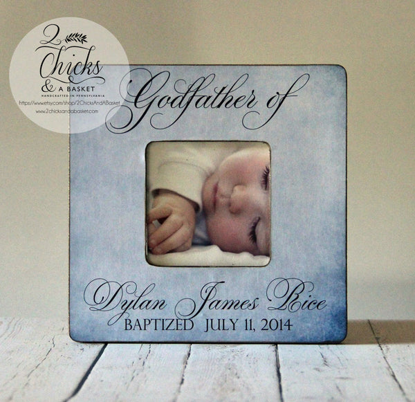 Godfather Picture Frame, Personalized Godfather Gift, Baptism Picture Frame