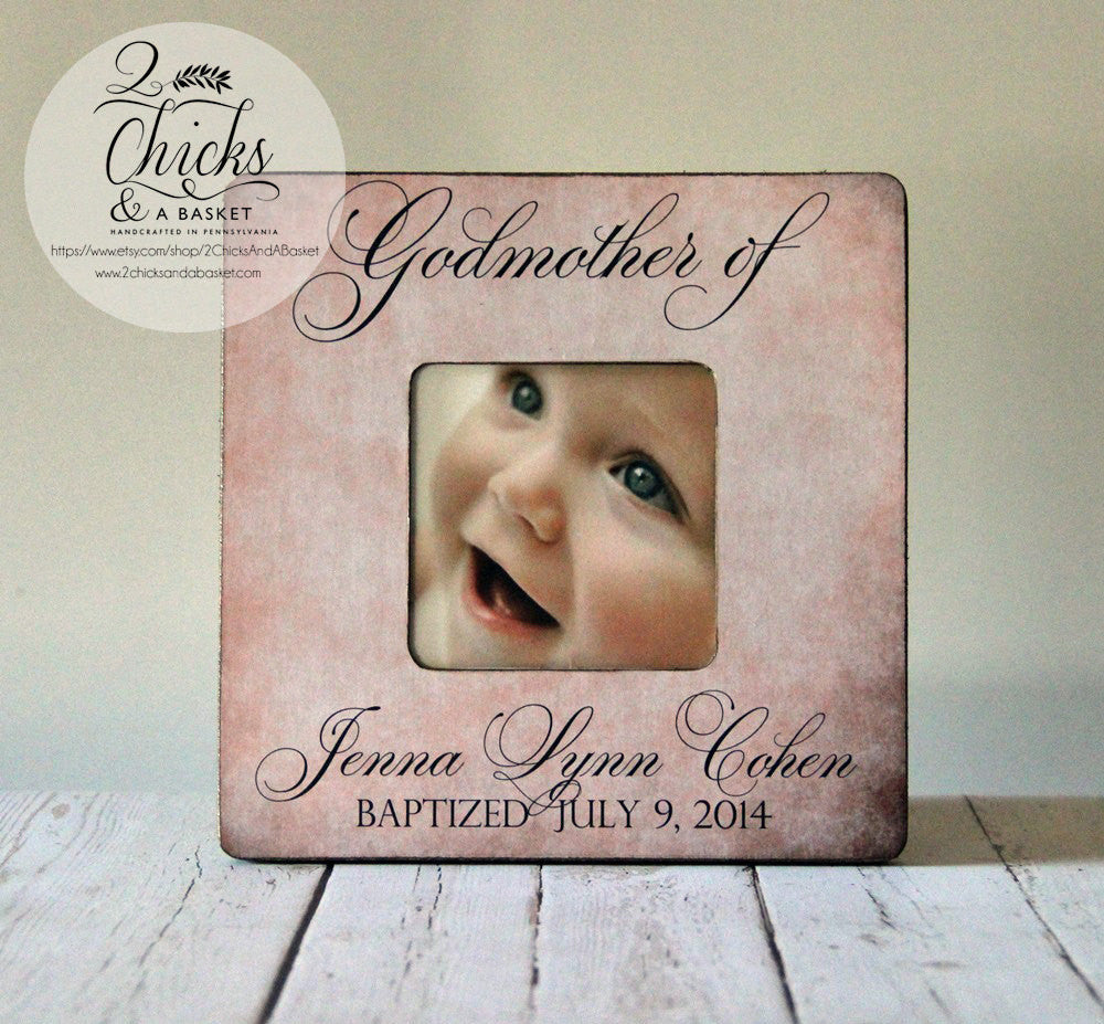 godmother gift personalized baptism picture frame godparent gift baptism gift idea godparent picture frame