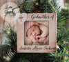 Godmother Christmas Ornament, Picture Frame Ornament, Personalized Godmother Gift, Godmother Christmas Gift