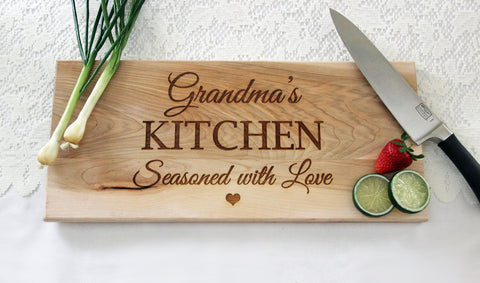 Grandma's Kitchen Cutting Board, Personalized Engraved Cutting Board, Great Gift Idea