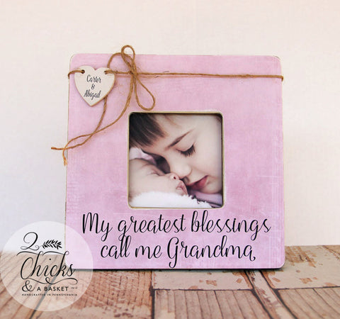 My Greatest Blessings Call Me Grandma Personalized Picture Frame