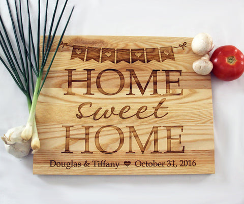 Home Sweet Home Cutting Board, Personalized Engraved Cutting Board, Great Gift Idea, Personalized Wedding Cutting Board