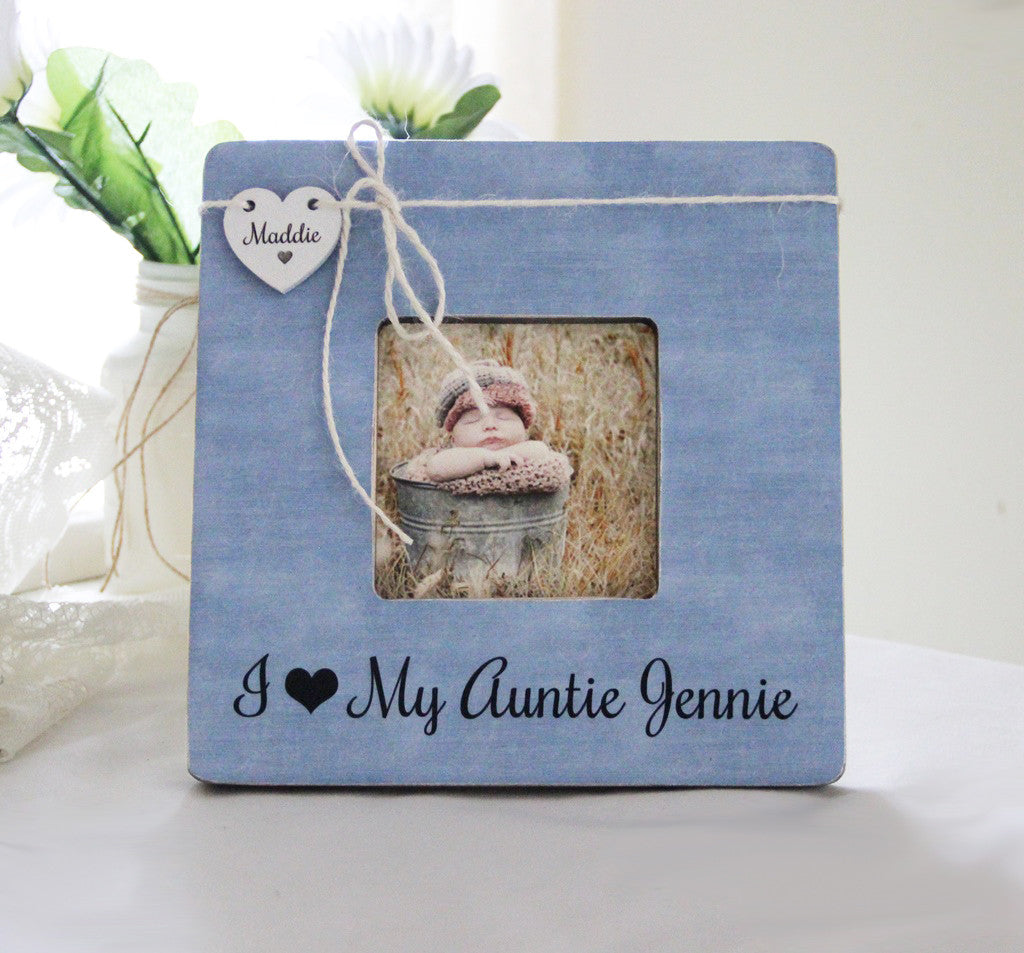 I love my aunt personalized picture frame new aunt new uncle gift i love my aunt personalized picture frame new aunt new uncle gift new baby announcement negle Gallery
