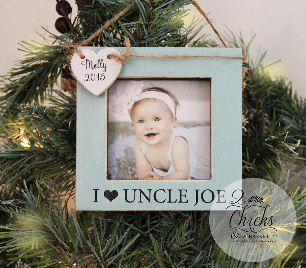 uncle personalized christmas ornament picture frame ornament
