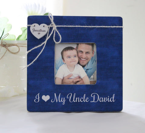 I Love My Uncle Personalized Picture Frame, New Uncle Gift, New Baby Announcement