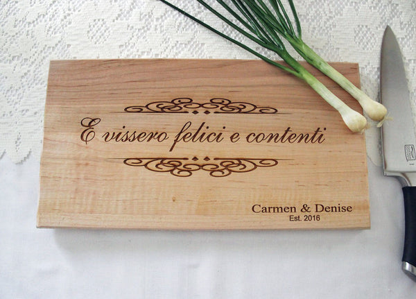 Italian Kitchen Cutting Board, Personalized Engraved Cutting Board, Great Gift Idea