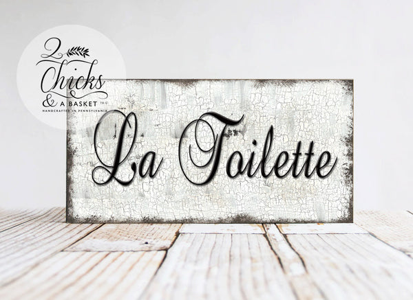 La Toilette Bathroom Sign