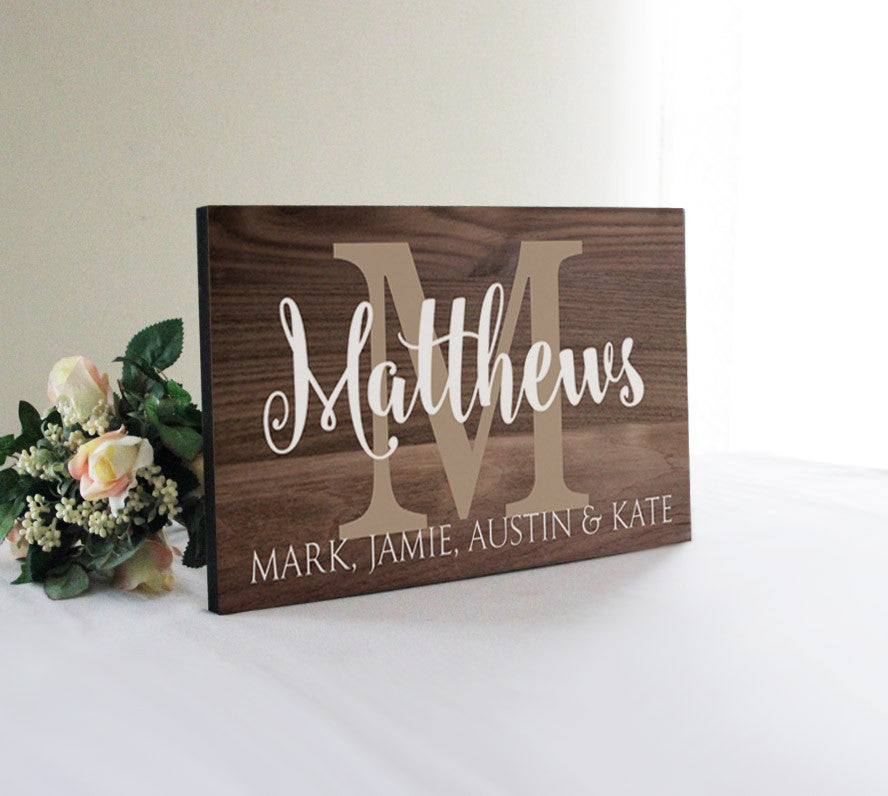 Family Wall Sign Part - 19: Personalized Large Family Sign, Wedding Gift Idea, Family Wall Decor,  Rustic Established Sign