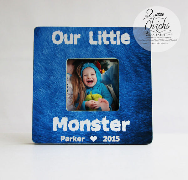 Our Little Monster Personalized Picture Frame, Personalized Halloween Picture Frame, Cute Monster Halloween Frame