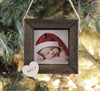 Personalized Photo Ornament, Baby Christmas Ornament, Wood Framed Ornament, Fixer Upper Inspired Decor