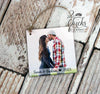 Personalized Christmas Ornament, Photo Ornament, Couple Christmas Ornament, Our First Christmas Photo Ornament