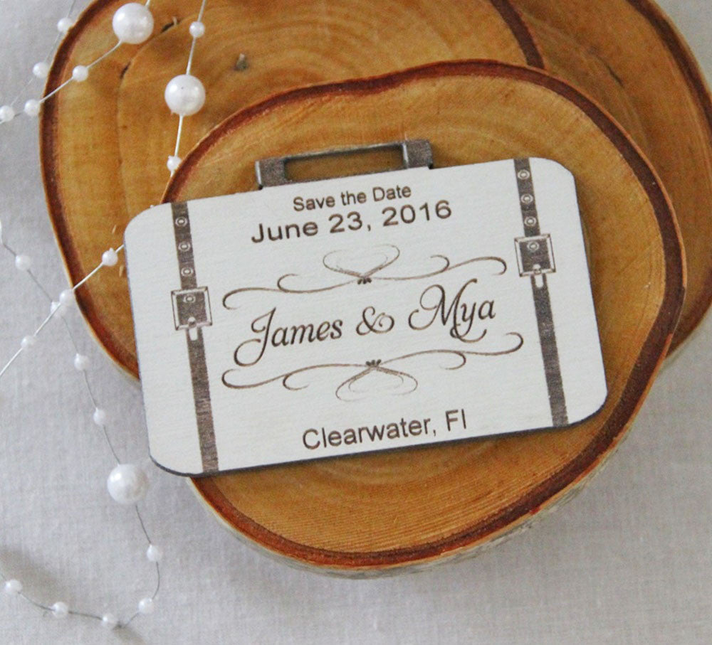 Save the Date Magnet Wedding Announcement Wood Save the Date – Save the Date Magnets Destination Wedding