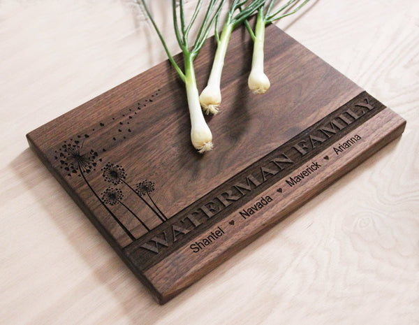 Family Name Cutting Board, Personalized Engraved Cutting Board, Great Gift Idea, Wedding Gift Idea