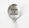 Avocado Is My Spirit Animal Funny Spoon, Custom Silverware, Personalized Silverware, Avocado Spoon
