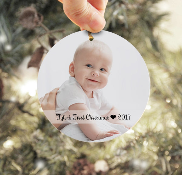 Baby's First Christmas Ornament, Personalized Photo Ornament, Child Christmas Ornament, Baby Picture Ornament