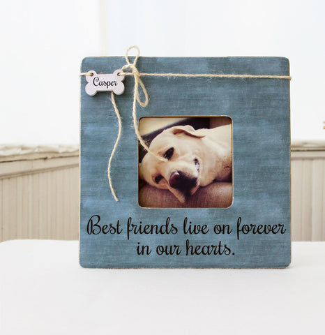 Best Friends Live On Forever In Our Hearts Picture Frame, Pet Memory Frame, Pet Loss Gift Idea, Loss of a Pet