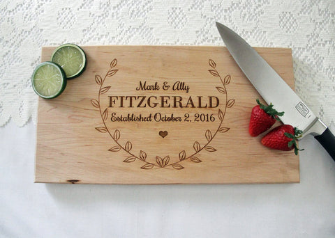 Custom Cutting Board, Personalized Engraved Cutting Board, Great Gift Idea, Personalized Wedding Cutting Board