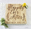 Happily Ever After Cutting Board, Personalized Engraved Cutting Board, Personalized Wedding Gift