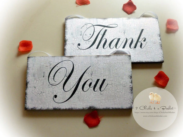 Thank You Set, Wedding Photo Props, Wedding Signs