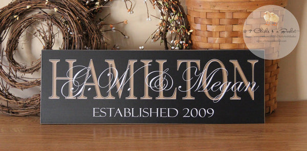 Custom Family Name Sign, Personalized Last Name Sign, Great Gift