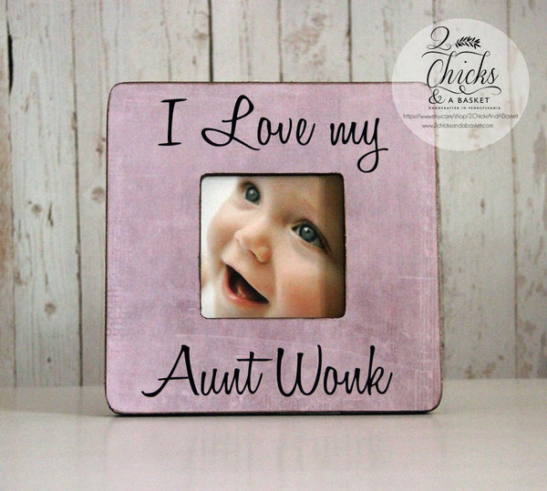 I Love My Aunt Personalized Picture Frame, Auntie Gift, Aunt Picture Frame Personalized