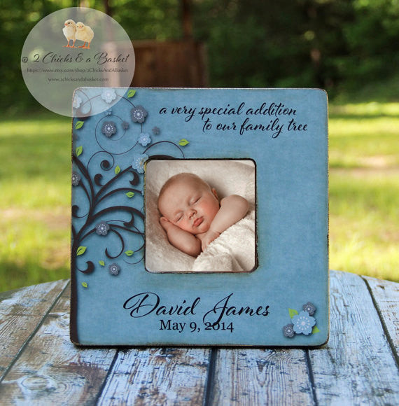 A Very Special Addition To Our Family Tree Picture Frame, Cottage Chic Picture Frame, Personalized Baby Shower Gift, Nursery Picture Frame
