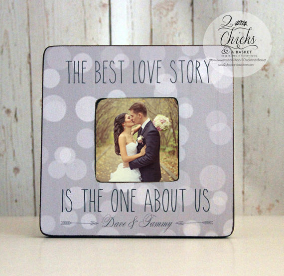 The Best Love Story Is The One About Us Personalized Frame, Wedding Picture Frame, Wedding Frame Gift Idea, Boho Wedding