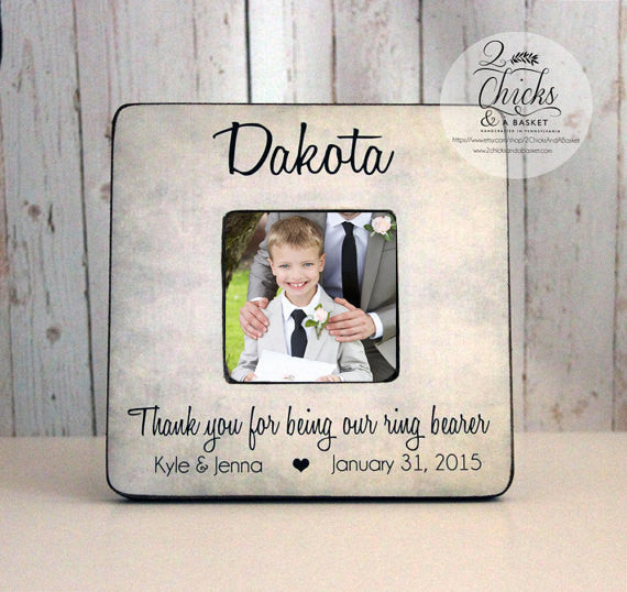 Thank You For Being Our Ring Bearer Personalized Picture Frame,  Ring Bearer Gift