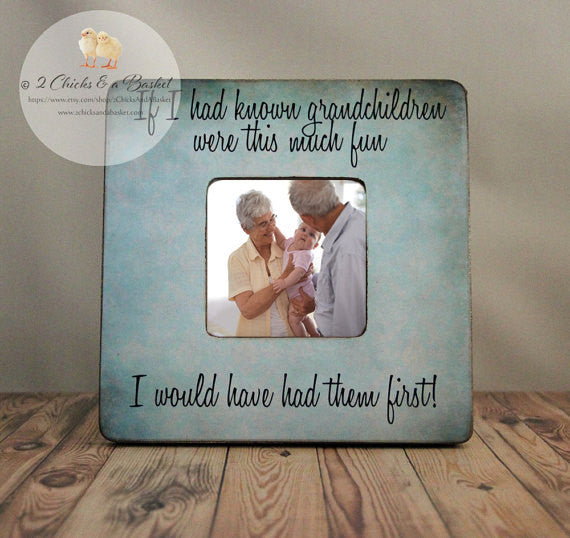 If I Had Known Grandchildren Were This Much Fun Picture Frame, Shabby Chic Frame, Grandparent Gift, Personalized Frame