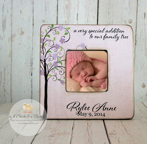 A Very Special Addition To Our Family Tree Picture Frame, Shabby Chic Picture Frame, Baby Shower Gift, Nursery Picture Frame