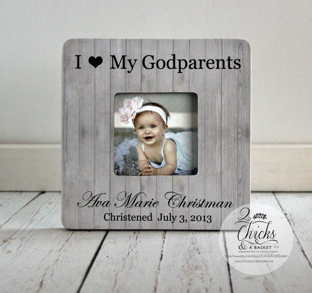 Godparent Gift, Personalized Christening Picture Frame, Godparent ...