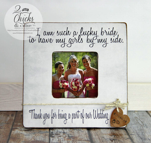 Bridesmaid Picture Frame, Personalized Wedding Picture Frame, Bridesmaid Gift