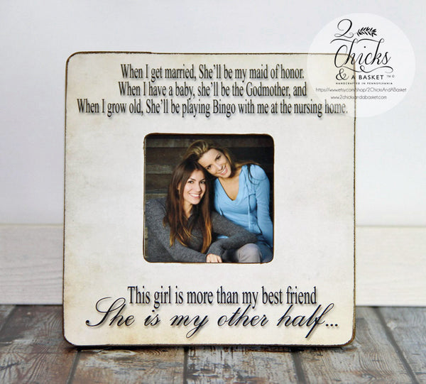 Best Friend Picture Frame, Funny Best Friend Picture Frame, Best Friend Gift, More Than My Best Friend