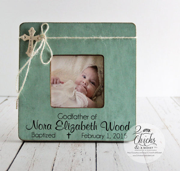 Godfather Picture Frame, Baptism Picture Frame, Godfather of Frame, Personalized Baptism Picture Frame