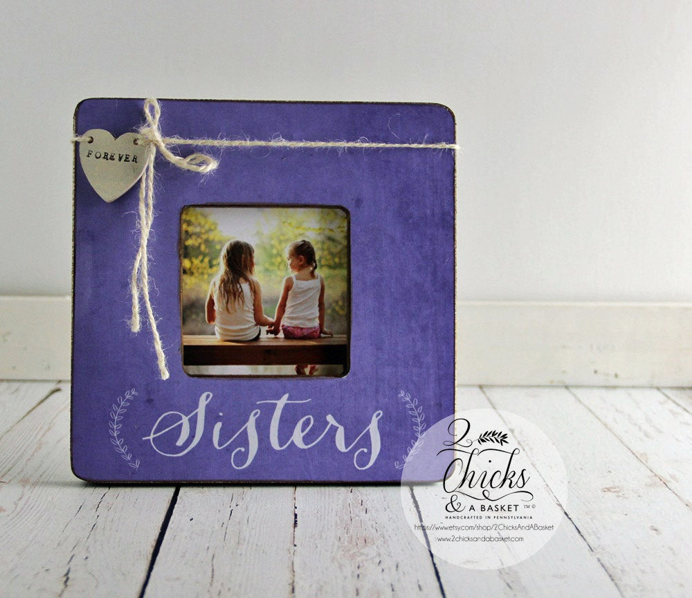 Sisters Picture Frame, Personalized Sister Picture Frame, Sister ...