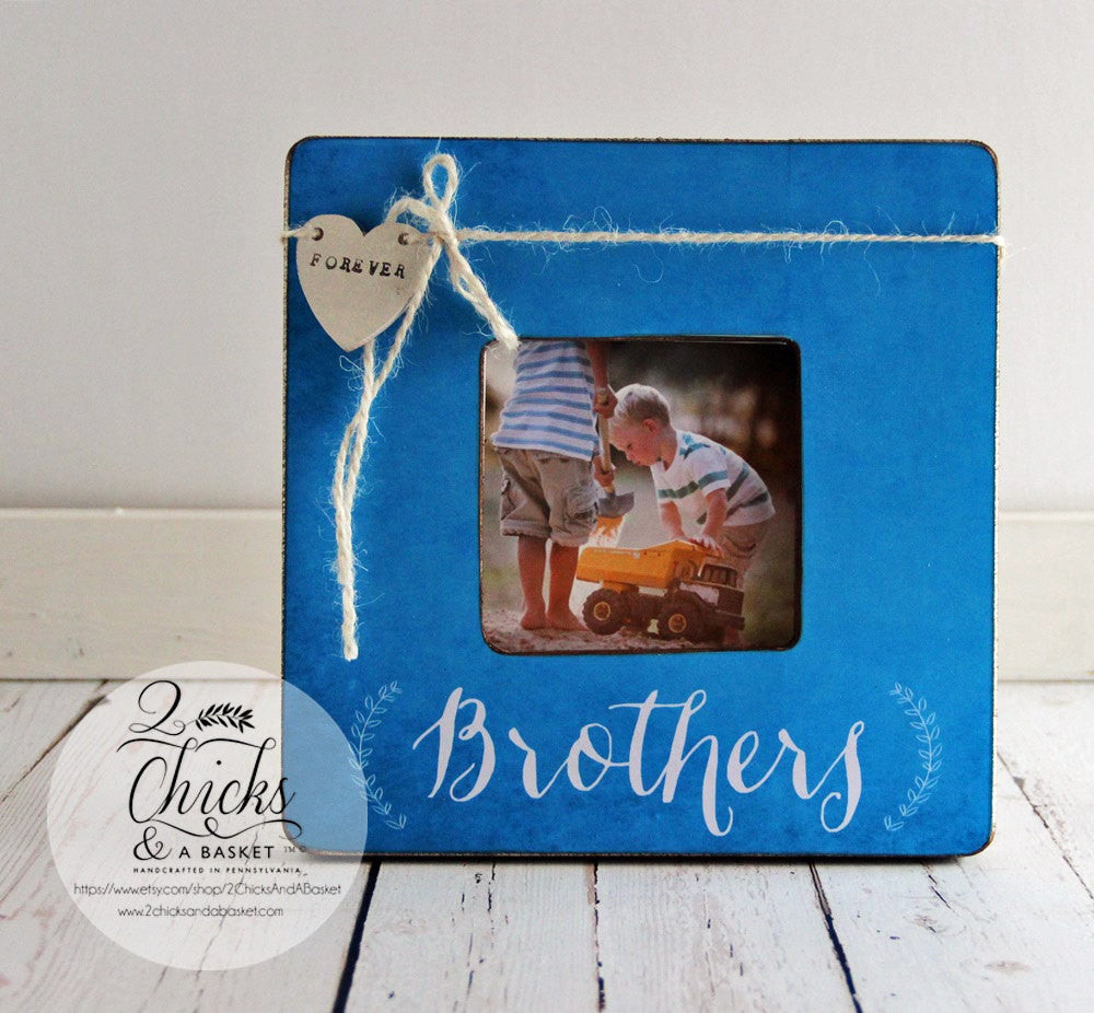 brothers picture frame personalized brother picture frame brother gift idea brothers forever frame