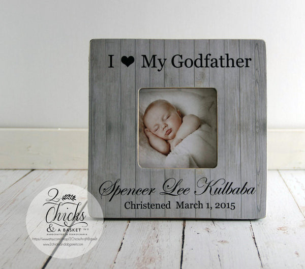 Godparent Gift, Personalized Christening Picture Frame, Godfather Picture Frame, Christening Gift Idea, I Love My Godfather