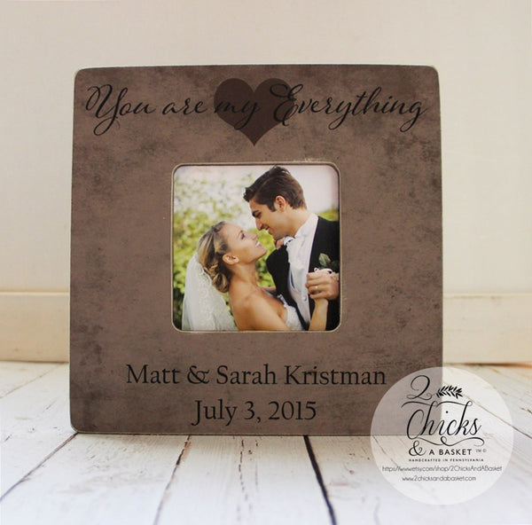 You Are My Everything Personalized Picture Frame, Wedding Picture Frame, Personalized Frame