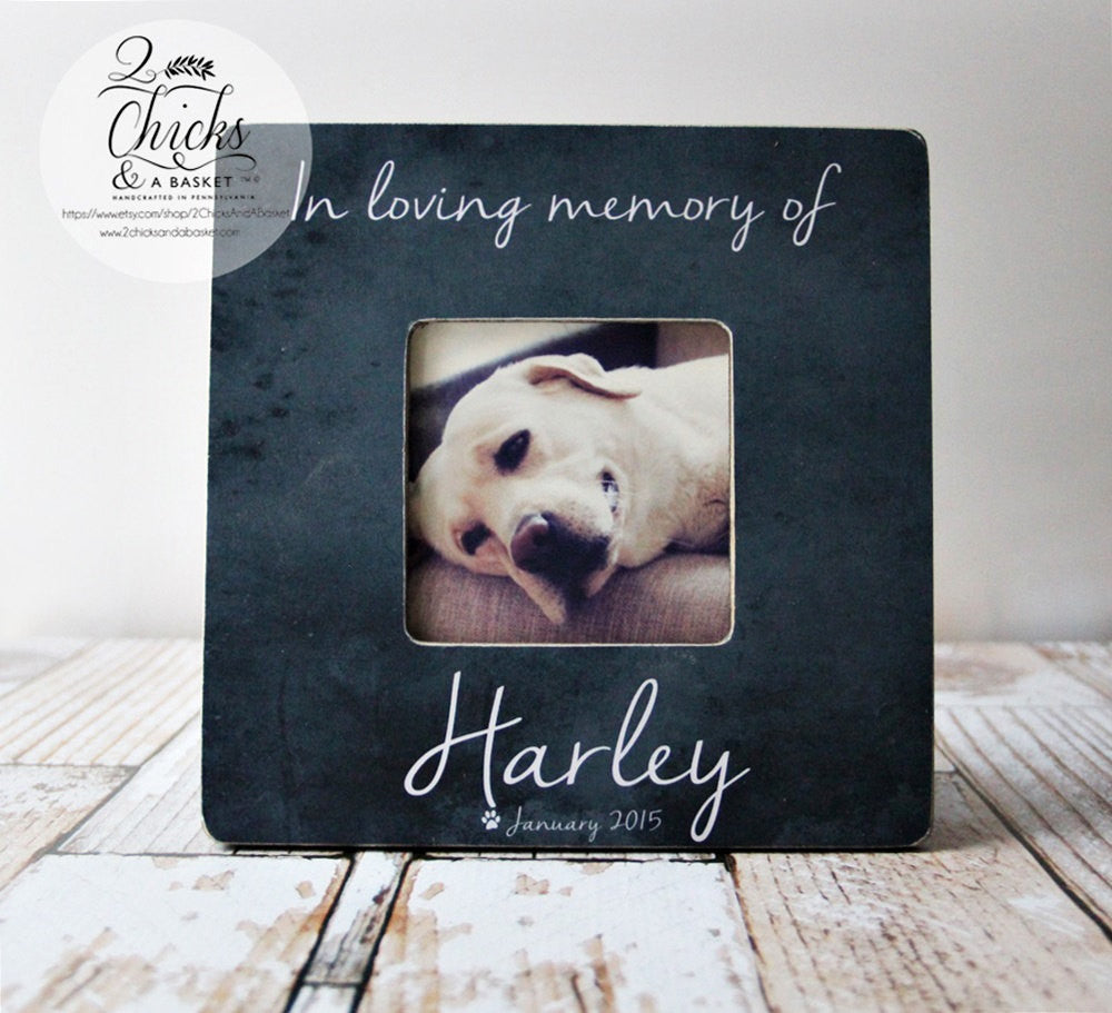 In Loving Memory Of Pet Picture Frame, Personalized Pet Picture ...