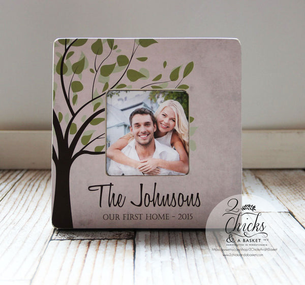 Our First Home Picture Frame, Couple Gift, First Home Gift Idea, Housewarming Gift